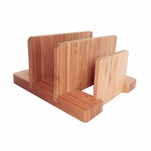Cyanbamboo Solid Bamboo Pot Lid Organizer Home Kitchen Storage Pan Lid Holder Dish Chopping Block Rack Shelf Rangement Cuisine