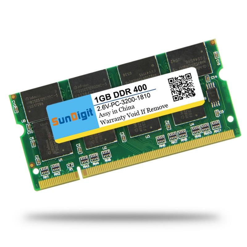 Brand SunDigit Laptop Memory Ram DDR 400MHz 333Mhz 266MHz PC