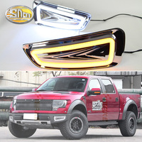 For Ford Raptor SVT F150 F 150 2010 2011 2012 2013 2014 Yellow Turn Signal Car DRL Lamp 12V LED Daytime Running Light Fog Lamp