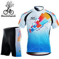 Mountainpeak Cycling Clothing Short Sleeved Riding Suit Shorts Summer Bicycle Men's Cycling Skinsuit Cycling Jersey and Shorts