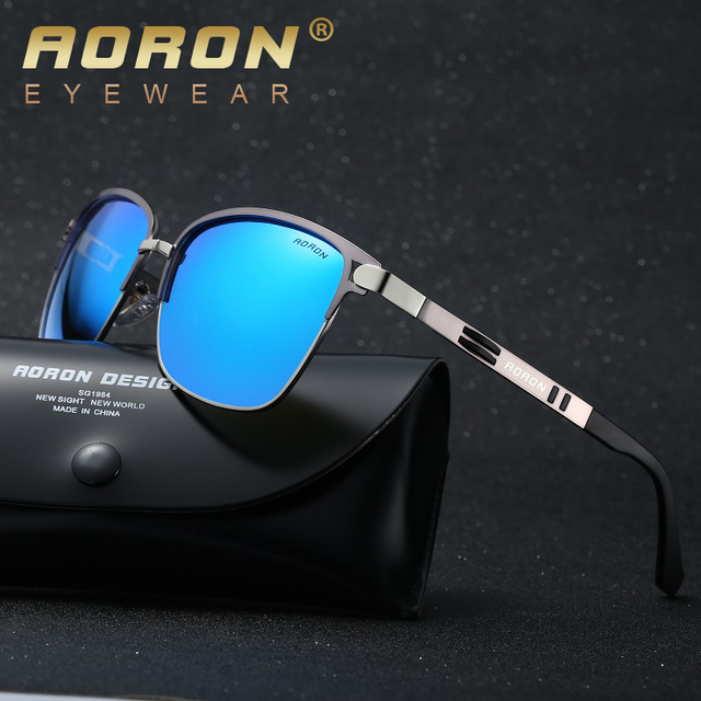 AORON mens brand polarized sunglasses men's classic designer UV400 goggles leisure eyewear fashion glasses oculos de sol A378