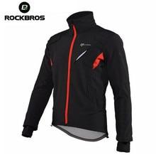 ROCKBROS Windproof Anti-sweat ciclismo Rainproof Riding Bike Jacket Man Cycling Jersey Winter Fleece Thermal Warm Bicycle