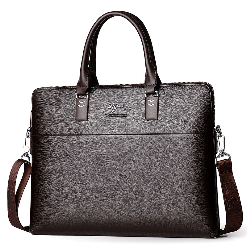 New Luxury Leather Business Men's Briefcase Male Fashion Shoulder Bag Men Messenger Bag Boy Casual Tote Computer Crossbody Bag