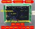 S8 M5S CO2 Sensor de detector de Formaldeído PM2.5 PM10 PM1.0 PM2.5 neblina de poeira Do sensor A Laser com TFT LCD de Temperatura e umidade