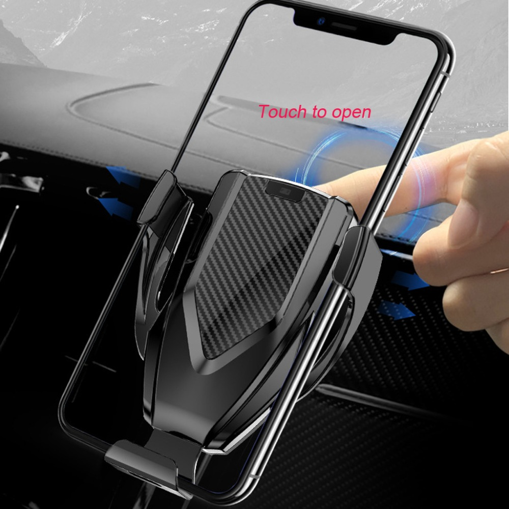 Image 4 - HIV Car Qi Fast Wireless Charger Air Vent + CD Mount Automatic Clamping Car Holder Stand for iPhone XR XS Max X 8 10W Fast C MAR-in Mobile Phone Chargers from Cellphones & Telecommunications