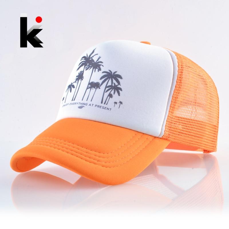 Snapback Mesh   Baseball     Cap   Summer Outdoor Sport Hats For Men Women Fashion Trucker   Caps   Boys Girls Hip Hop Skateboard Casquette