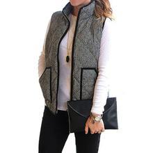 Mooistar #5020 2017 Осенне-зимнее пальто Для женщин Дамы hembra дель chaleco Повседневное жилет женский хлопковый жилет куртка