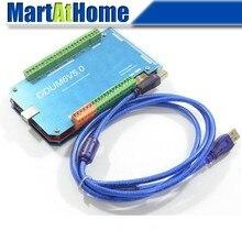 Envío Libre CNC 2000 KHz Argedo 6 Eje Mach3 USB motion control tarjeta breakout interfaz w/shell de aluminio # sm699 @ CF