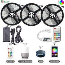 5050 Светодиодный светильник Wi-Fi полоса 12 В 150 светодиодный водонепроницаемый Светодиодная лента RGB 5 м 10 м 15 м smd гибкий светодиодный лента+ WiFi светодиодный контроллер+ адаптер питания