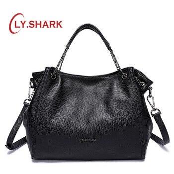 LY. requin sacs à main femmes sac à bandoulière épaule sacs à main pour femmes Messenger sac femmes sac à bandoulière en cuir véritable sac dames