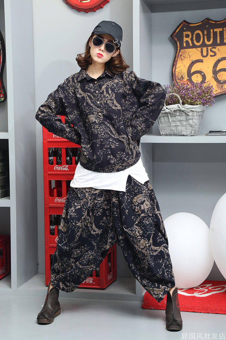 New Korean fashion long sleeves slim two piece cotton and linen casual trousers suit women 39 s tide in Women 39 s Sets from Women 39 s Clothing