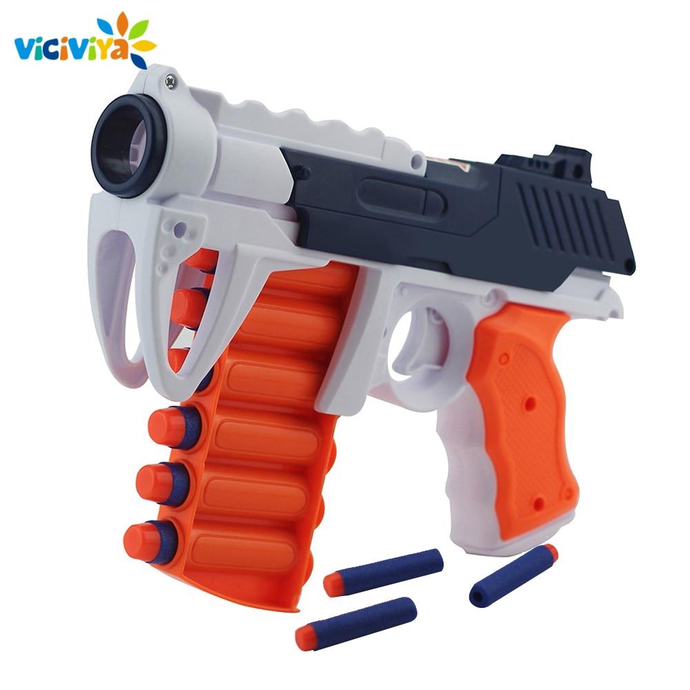 New 6 Shot Manual Soft Bullet Gun Suit for Nerf Bullets