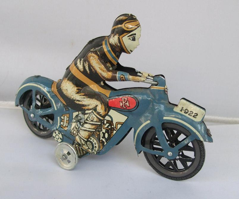 Antique Style Tin Toys Wind Up Toys Robots Iron Metal Models For Children/Adult Home Decoration Craft C-12 Single Motorbike
