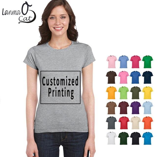 5734a919 Lanmaocat Women Cotton T Shirts Customized Logo Women Cotton T Shirts  Customized with Own Logo T