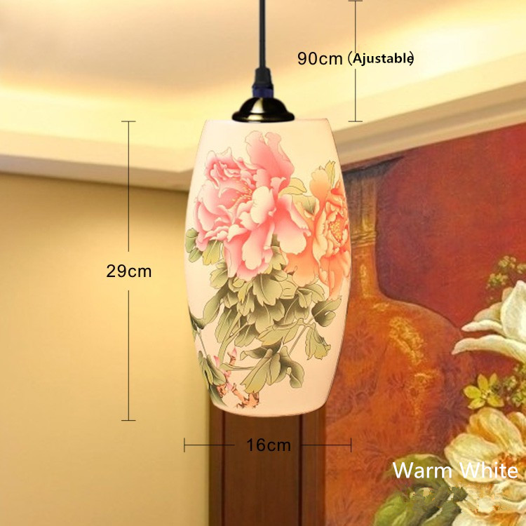 Pendant Lights Ceramic Art Pendant Lamp Fashion Counter Lamps Simple Home Cafe Bar Dining Room Lighting Decor a1 master bedroom living room lamp crystal pendant lights dining room lamp european style dual use fashion pendant lamps