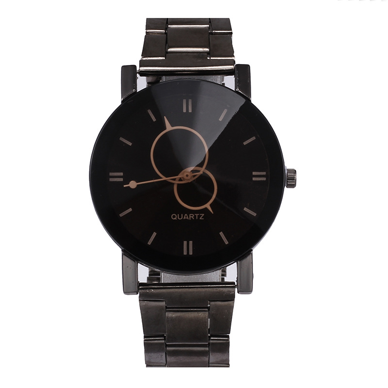 Hot Sale Brand Geneva Creative Couple Watches Men Stainless Steel Sport Watch Women Casual Quartz Watch High-grade Clock Black