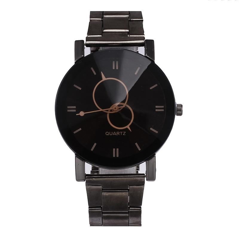 Hot Sale Brand Geneva Creative Couple Watches Men Stainless Steel Sport Watch Women Casual Quartz Watch High-grade Clock Black