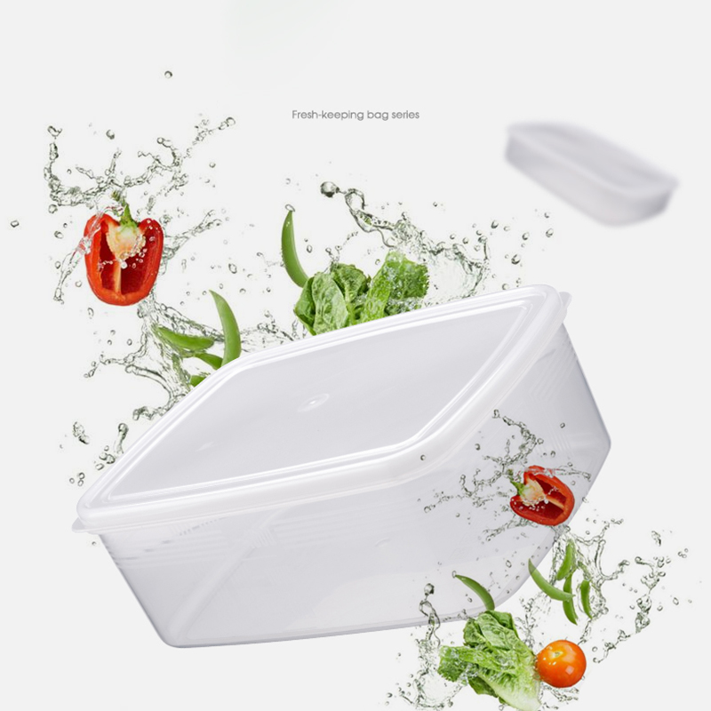 2PCs Large Visible Sealed 1000ml Lunch Box Microwave Fridge Sushi Fruit Grains Cereal Bowl Fresh keeping Food Storage Container in Lunch Boxes from Home Garden