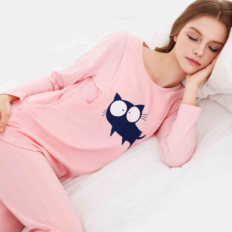 cotton confined suits summer cotton maternity sleepwear maternal breastfeeding leisurewear postpartum nursing suit