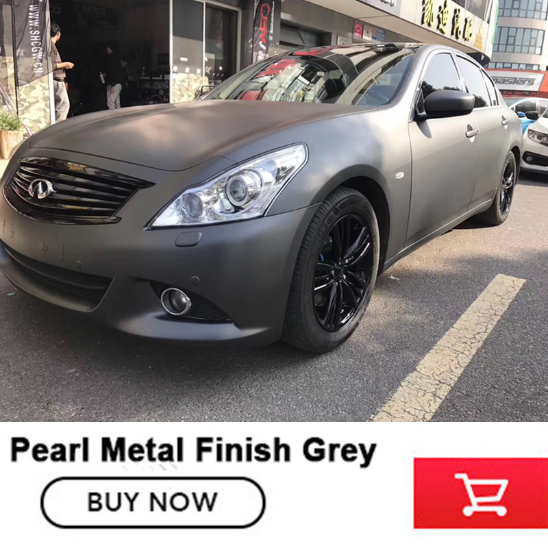 цены Pearl metal finish grey  Air Release High quality matt grey vinyl film roll car wrap gray matt vinyl film with bubble free