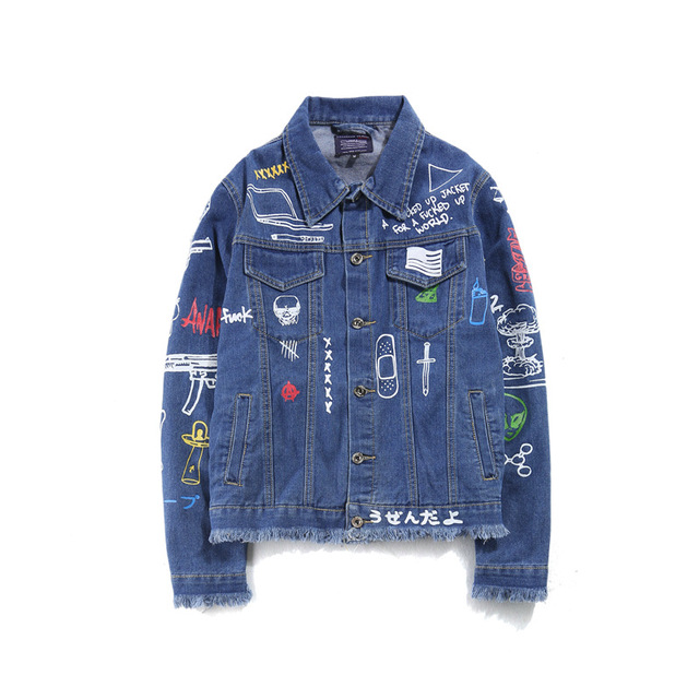 Для мужчин Джинсовые куртки зимние улицы каракули с длинным рукавом Отверстия Джинсы для женщин пальто Для мужчин Street локомотив хип-хоп Джинсы для женщин Куртки
