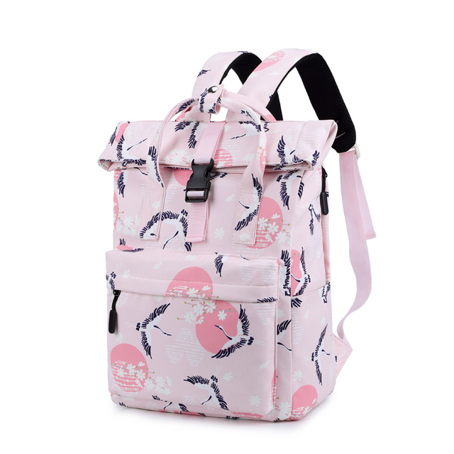 2019 Chinese Wind Print Children s School Bag for Teenagers Girls book bags  Large capacity fresh women backpacks mochila escolar 5b730ac285