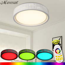 NEW Modern LED Ceiling Light  With Acrylic around lampshade & Dimmable Color Changing led ceiling Lamps For bedroom