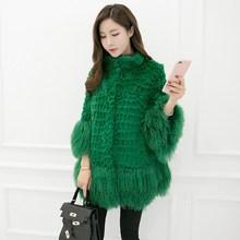 New Fashion Natural Rabbit Fur Long Vest Real Rabbit Fur Winter High Quality Women Real Rex Rabbit Fur Coat