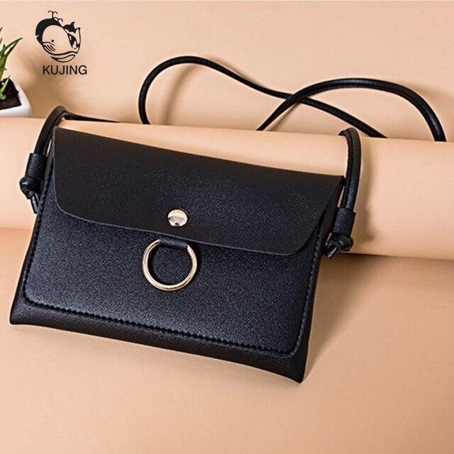 9d85d4193ee7 KUJING Fashion Handbags High Quality Women Shoulder Bag Mobile Phone Small  Square Bag Cheap Shopping Leisure Women Messenger Bag