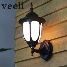 Купить с кэшбэком Europe outdoor wall lamp waterproof garden lights retro creative acrylic shade fence lighting