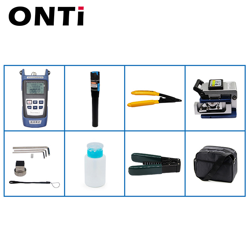 Image 5 - 12pcs/Set  Fiber Optic FTTH Tool Kit with Optical Power Meter 30km Visual Fault Locator  FC 6S Fiber Cleaver Cable Wire Stripper-in Fiber Optic Equipments from Cellphones & Telecommunications