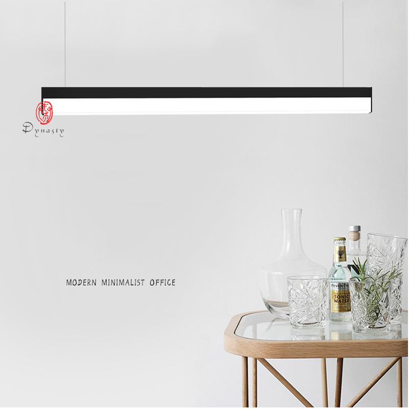 Acrylic Aluminum Modern Building Office Hanging Light LED 1.2M Conference Room Super Market Exhibition Super Bright Free Ship 4cm aluminum office led strip chandeliers conference room study office office building commercial lighting fixture led lamps