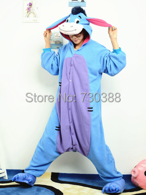 Designer Cosplay Anime Animal Eeyore Donkey Pajamas Adult Unisex Women Men  Onesie Christmas Halloween Costumes Pyjama S M L XL 4533ffe4b2f4