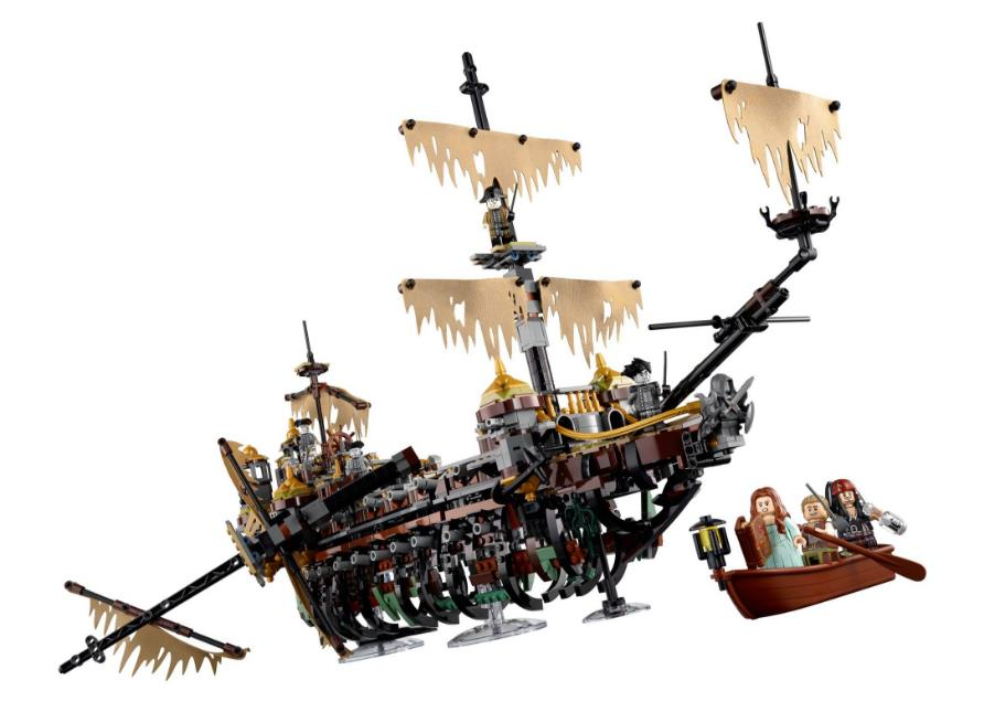 10680 2324pcs New Pirate Ship Series The Slient Mary Set Children Educational Building Blocks Model Bricks Toys Gift 71042 16042