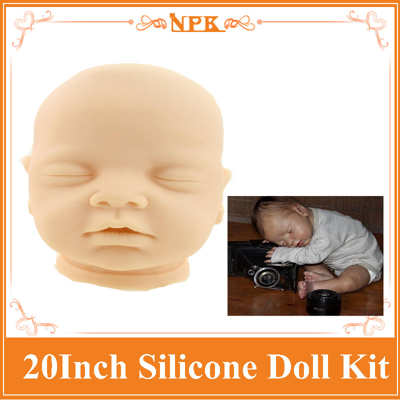 New Arrival 20'' Reborn Doll Accessories One Head , 2 Hands ,2 Legs In One Package Hot Sell Doll Accessories For DIY Reborn Doll