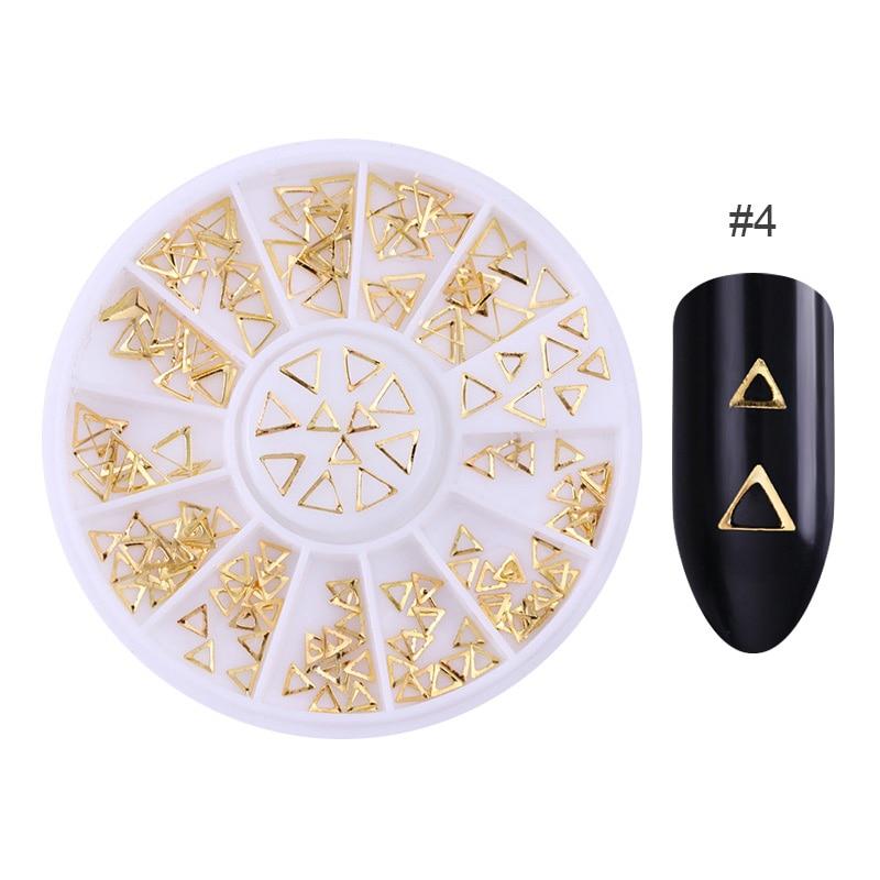3D металлические украшения для нейл-арта, золотая металлическая цепочка, бисер, линия, много размеров, змеиная кость, сделай сам, украшение для маникюра, нейл-арта, 1 коробка - Цвет: 400580