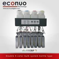 Горячая Распродажа! Двойной 4-основная система бутылки типа 4 танки и 8 Картриджи 4 + 8 для большой formay струйный принтер