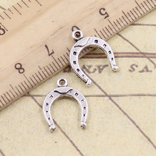 10pcs Charms lucky horseshoe horse 16*13mm Tibetan Silver Plated Pendants Antique Jewelry Making DIY Handmade Craft(China)