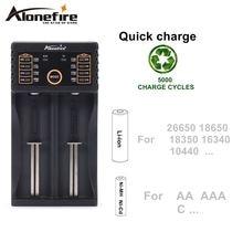 Зарядное устройство alonefire mc202 18650 12 в 37 32 385 В aa/aaa