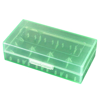 Battery Storage Case Holder/Organizer for 18650 or CR123A Battery Green