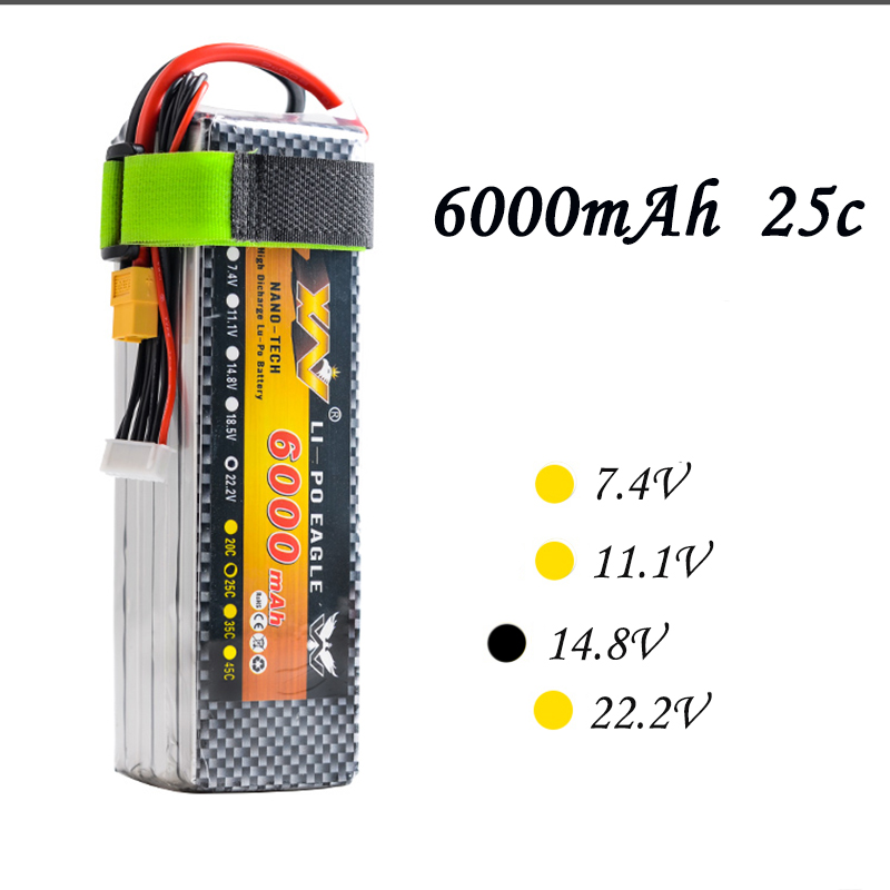 россия платье s 25 max High Quality RC Battery 14.8V 6000mAh 25C Max 55C 4S 4Cells 14.8Volt RC LiPo Li-Poly Battery for Helicopters Quadcopter RC drone