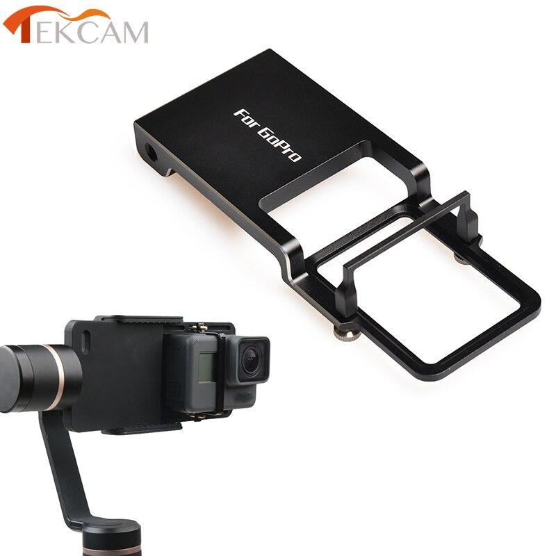 Tekcam cardán montaje adaptador de placa para Gopro hero 7/6/5/4/3 +/3/yi 4 k DJI Osmo Mobile zhiyun suave/Q/C/2 de cardán portátil