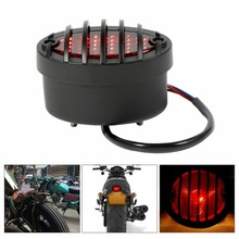 цена на Universal License Plate Light Tail Brake Light Fit For Harley Chopper Bobber streetfighter Cafe Racer custom