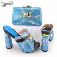 Capputine Ile Yeni Tasarım İtalyan Ayakkabı Eşleşen Çanta Seti Moda İtalya Ayakkabı Ve Çanta Afrika Kadınlar Için Ayakkabı Maç Için Parites