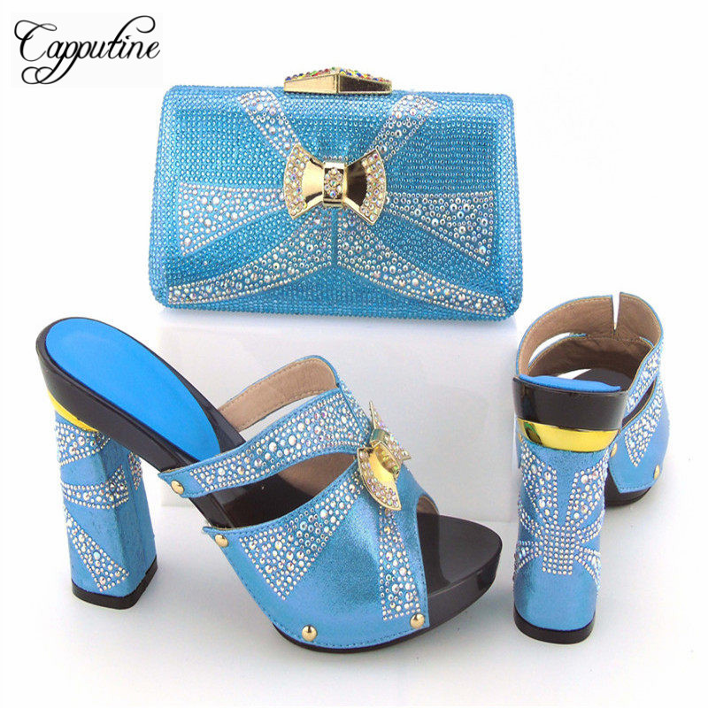 Capputine New Design Italian Shoes With Matching Bag Set Fashion Italy Shoes And Bag To Match African Women Shoes For Parites african fashion shoes with matching bag set for wedding party italian design nigeria women pumps shoes and bags mm1060