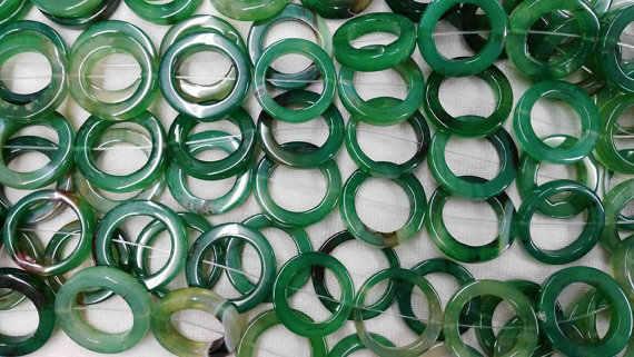 Maior 28x35mm completa strand natural ágata onyx rodada circuito oval círculos Rosquinha pedra verde amarelo vermelho branco preto mix talão colar