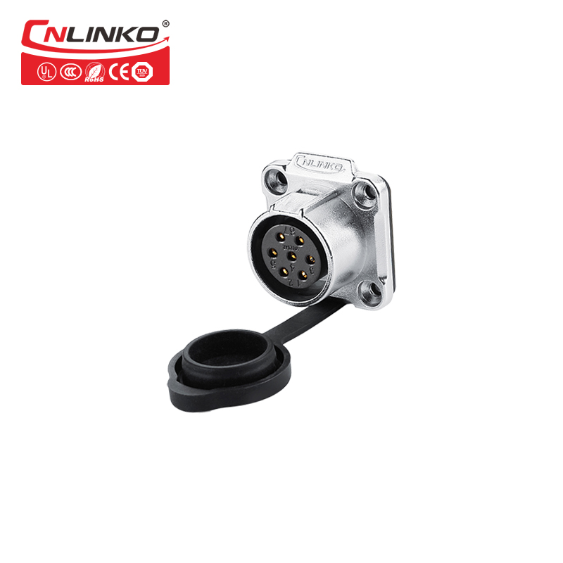 Image 2 - Cnlinko Lp20 7Pin Waterproof Connector M20 Ip67 Male Female LED Light Medical Push 7 Pin Solder Connectors For Laundry Machineconnector ip67led waterproof connectorled connector -