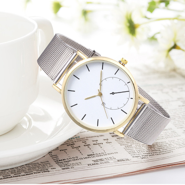 Moment # N03 DROPSHIP relogio 2018 Fashion Womens Watches Quartz Stainless Steel