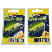 Clip On! 20Pcs(10bags) XL 3.3-3.7mm Night Fishing Lighting Stick Wand Green chemical glow stick fishing