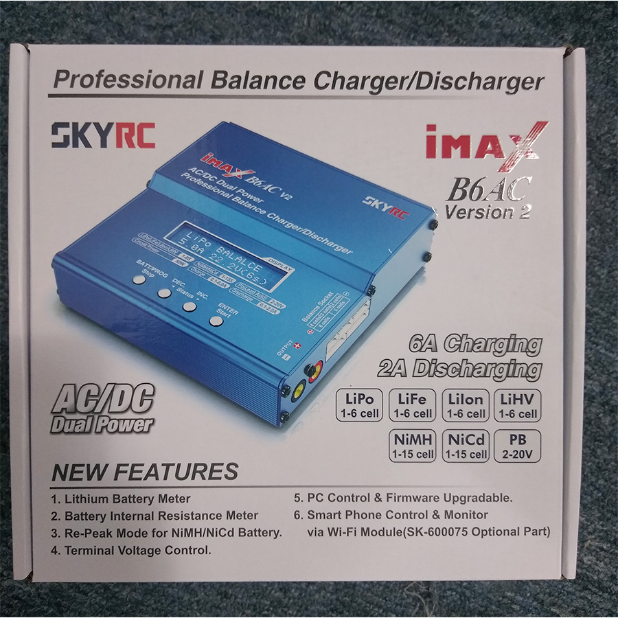 Original SKYRC iMAX B6AC V2 Charger 50W Lipo Battery Balance Charger RC Discharger Helicopter Quadcopter Drone Battery Charger in Parts Accessories from Toys Hobbies